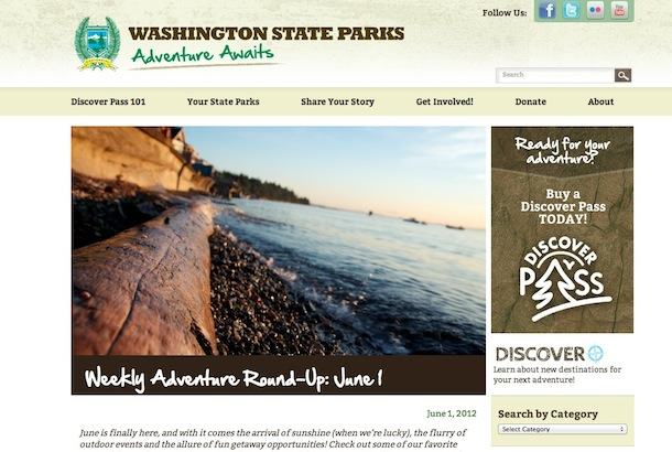 WA State Parks website